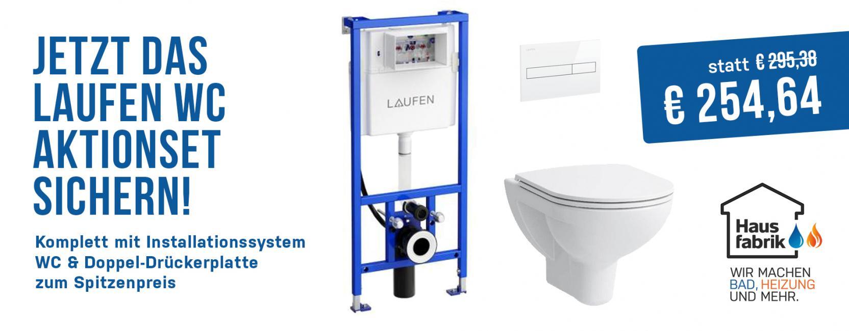 Jetzt ins Aktion: Laufen WC Komplettset mit Installationssystem, WC und Drückerplatte zum Spitzenpreis!
