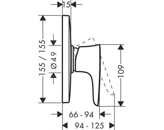hansgrohe Puravida Unterputz Highflow-Brausemischer, 1 Verbraucher, chrom