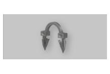 V&N Floortec Tackerclip 3D kurz 38mm für PE-Xc-FBH Rohr 14-17x2mm VPE=400 Stück BIACLI1203DS0A0