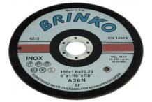 Brinko Trennscheibe 6215 für Kupfer,Stahl,Edelstahlr.,115mm 6215/115
