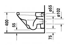 Duravit Wand-WC 540mm DuraStyle Weiß Tiefspüler 2536090000