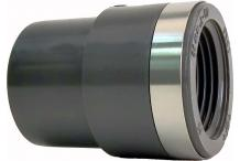 GF Rohr vormals JRG GF721910558 PVC-U Übergangs-Muffennippel d 25 d1 32, R 1 PN16, metrisch-R 721910558