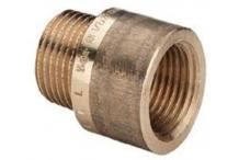 Viega Verlängerung 3525 in R1/2 x Rp1/2 x 20mm Rotguss 354978