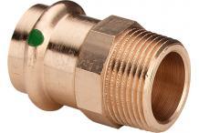 Viega Übergangsstück mit SC Sanpress 2211 in 15mm x R1/2 Rotguss 105044