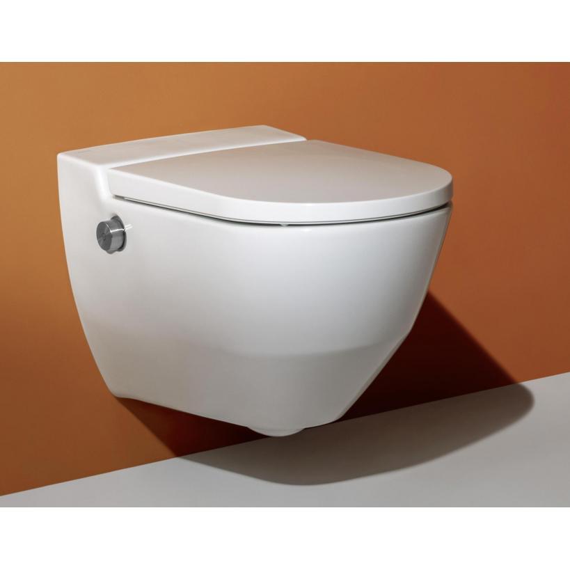 Laufen Dusch-WC Cleanet Navia Tiefspüler, rimless, weiß LCC 8206014000001