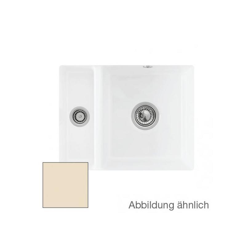Villeroy & Boch VB Unterbauspüle Subway 60 XU 675801 545x440mm Rechteck Ivory CeramicPlus 675801FU