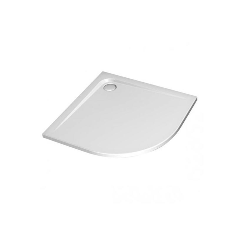 Ideal-Standard/Comfort Ultra Flat Viertelkreis Brausewanne K162201 90x90x13cm weiß Komplettsyst. K162201