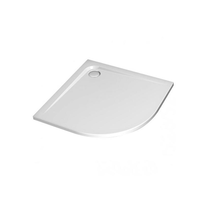 Ideal-Standard/Comfort Ultra Flat Viertelkreis Brausewanne K162301 100x100x13cm weiß Komplettsyst. K162301