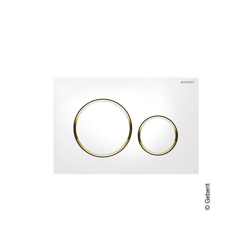Geberit Sigma 20 2-M Betätigungsplatte weiß/gold/weiß 115882KK1