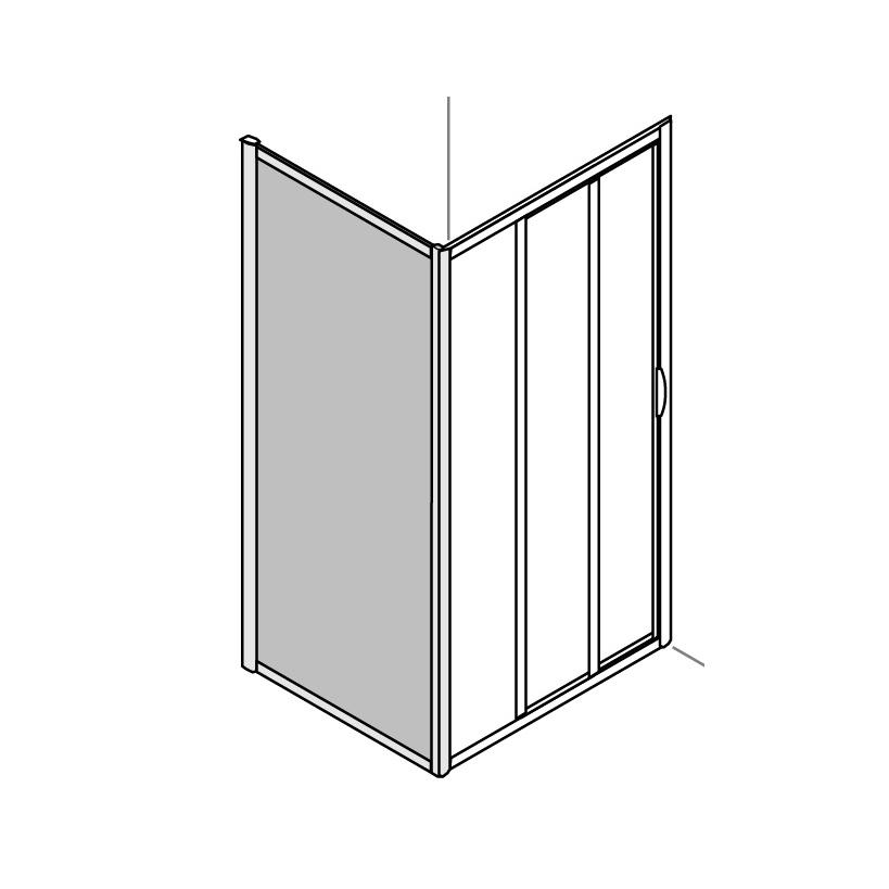 Artweger SeitenwandBaseline 80x185 cm natureloxal Gl.Diamond G14DNXDD