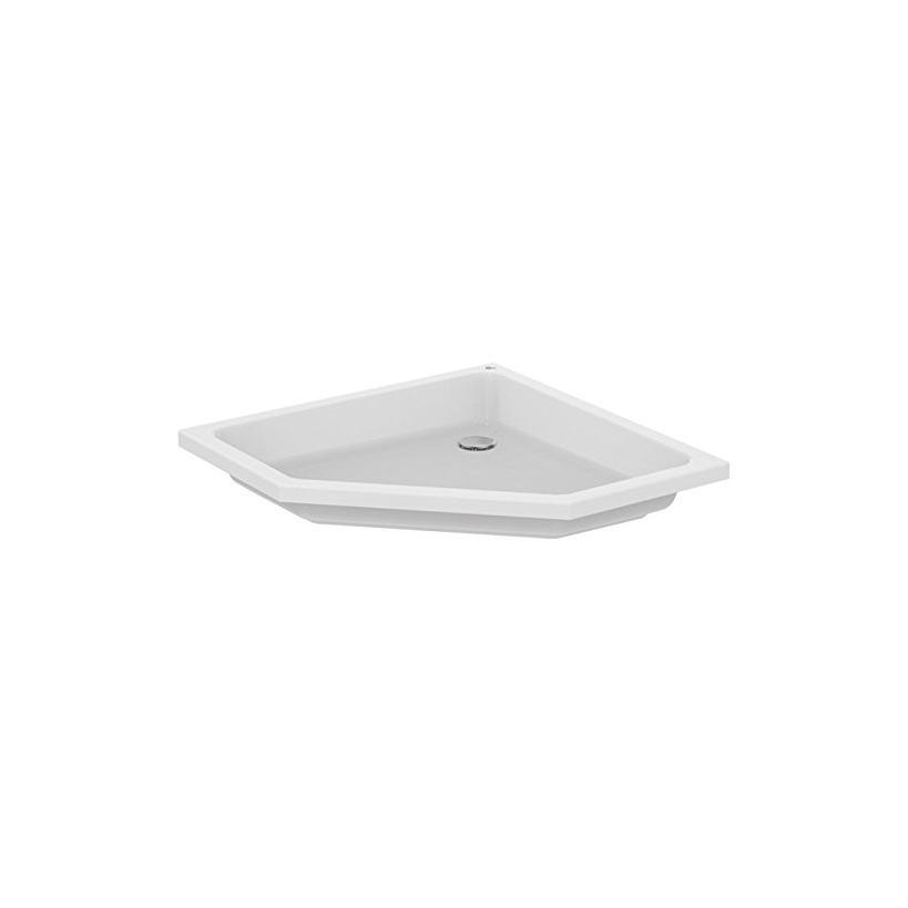 Ideal-Standard/Comfort Id.St. Hotline Neu 5-Eck-Brausewanne 900x900x145mm, weiß K278201