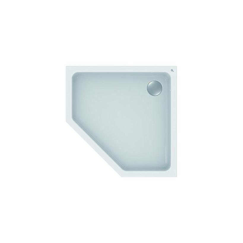 Ideal-Standard/Comfort Id.St. Hotline Neu 5-Eck-Brausewanne 1000x1000x80mm, weiß K278401