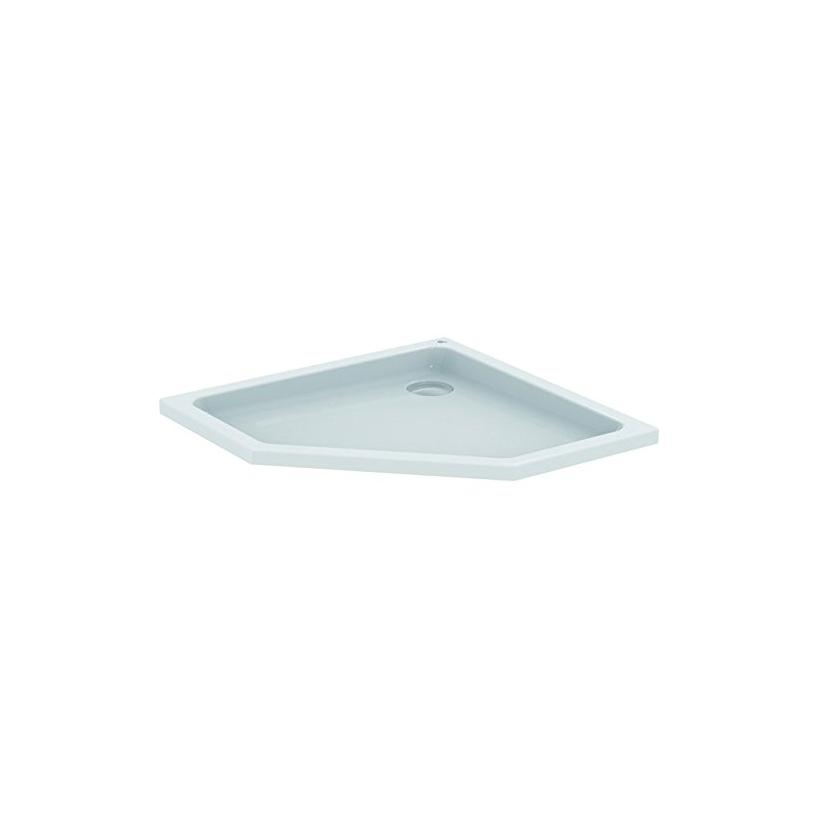 Ideal-Standard/Comfort Id.St. Hotline Neu 5-Eck-Brausewanne 900x900x80mm, weiß K278301