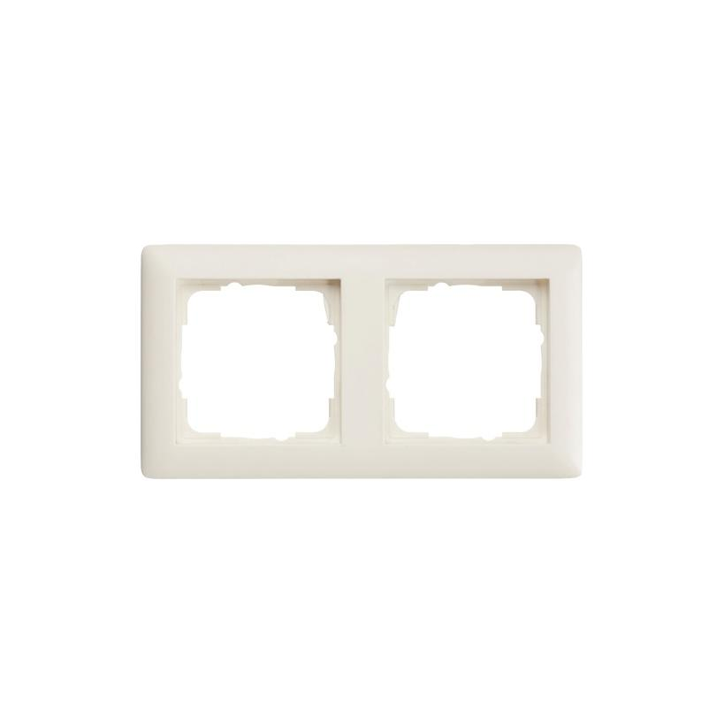 Gira 2-fach Rahmen reinweiß matt System55