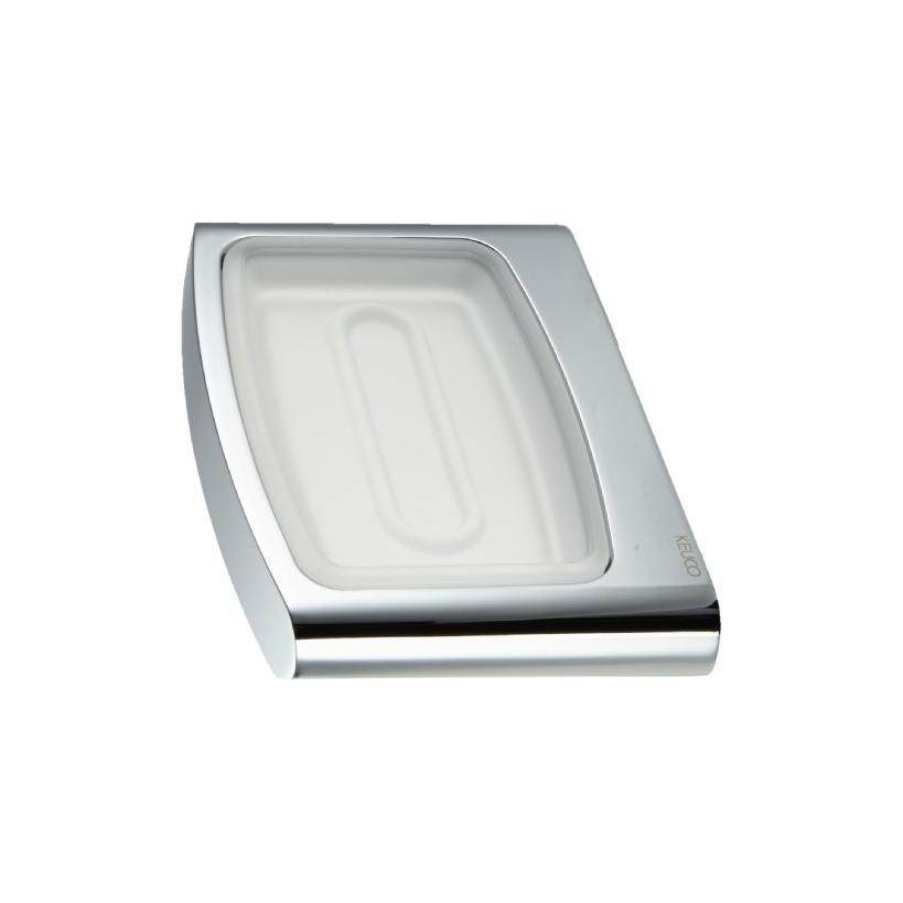 Passion Keuco Elegance Seifenablage 11655 mit Echtkristall-Schale matt, verchromt 11655019000