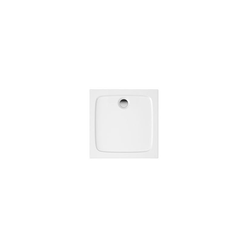 Trojan Plastics Projekta Mineralguss Brausetasse quadratisch inklusive Wannenfüße 80 x 80 x 4 S0592