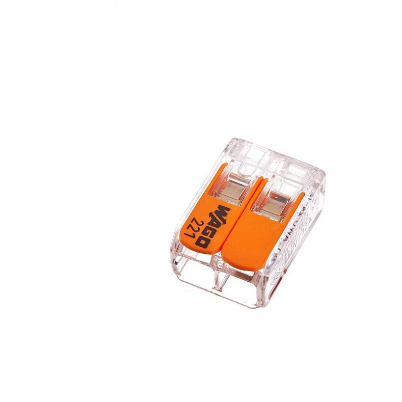Hebelverb.klemme 2x0,2-4mm²  10 Stück Packung
