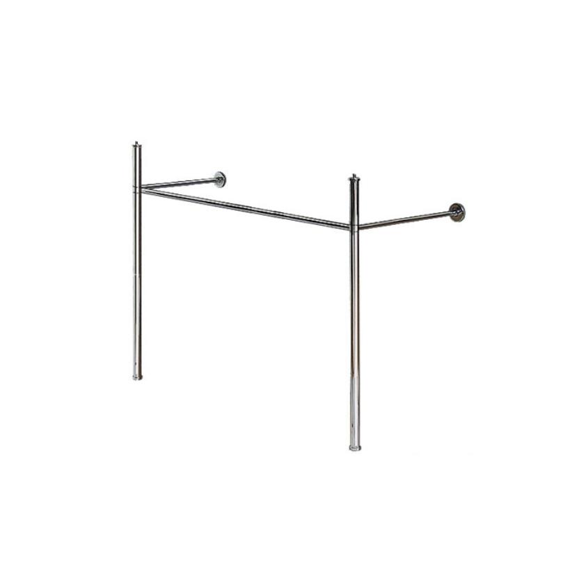 Duravit Metallkonsole Happy D.2 WT 231865, höhenverstellbar, chrom 0030781000