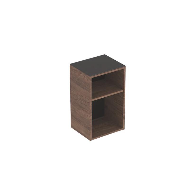 Geberit Smyle Square Seitenschrank B36 offen 360x600x299mm, Nussbaum hickory 500358JR1