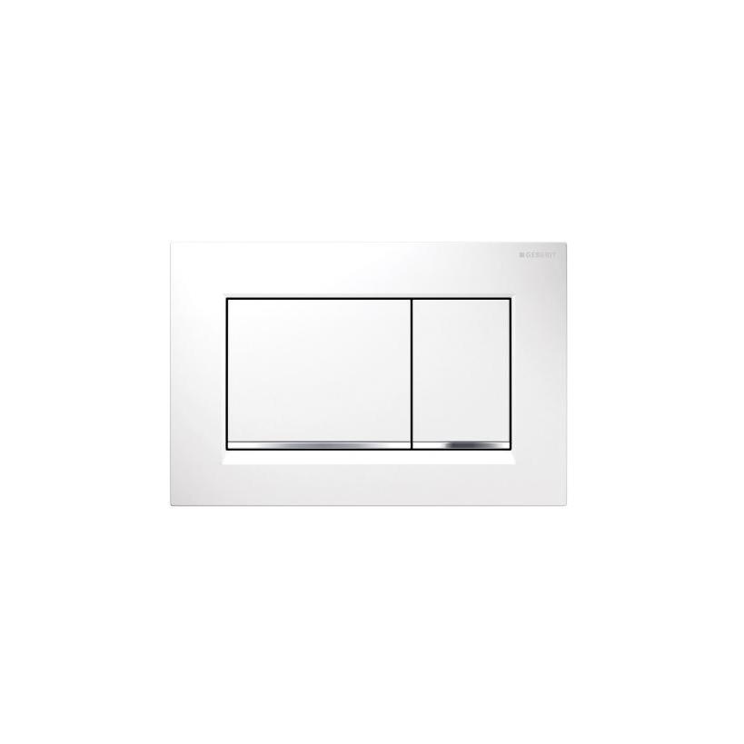 Geberit Sigma 30 2-M Betätigungsplatte weiß/glanz/weiß 115883KJ1