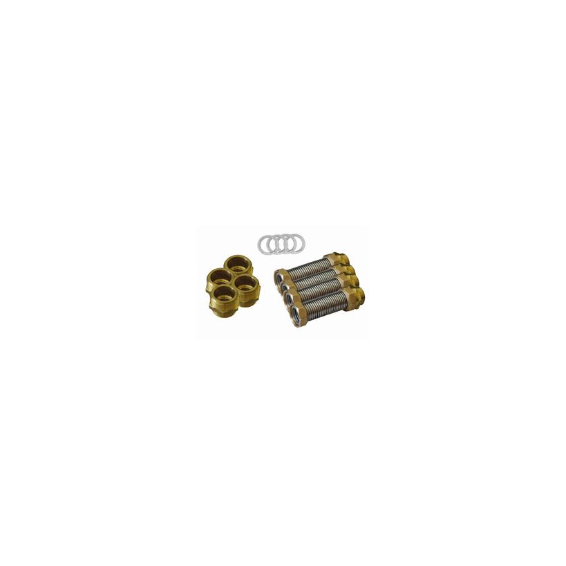 """Citrin Solar Citrin Pufferverbindungsset 6/4"""", 120 mm je 4x Wellschlauch 395161"""