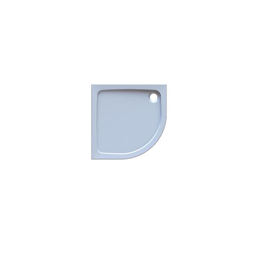 Trojan Plastics Projekta Mineralg. Rundbrausetasse 90x90x4cm, inkl. Wannenfüße, R550 S0595