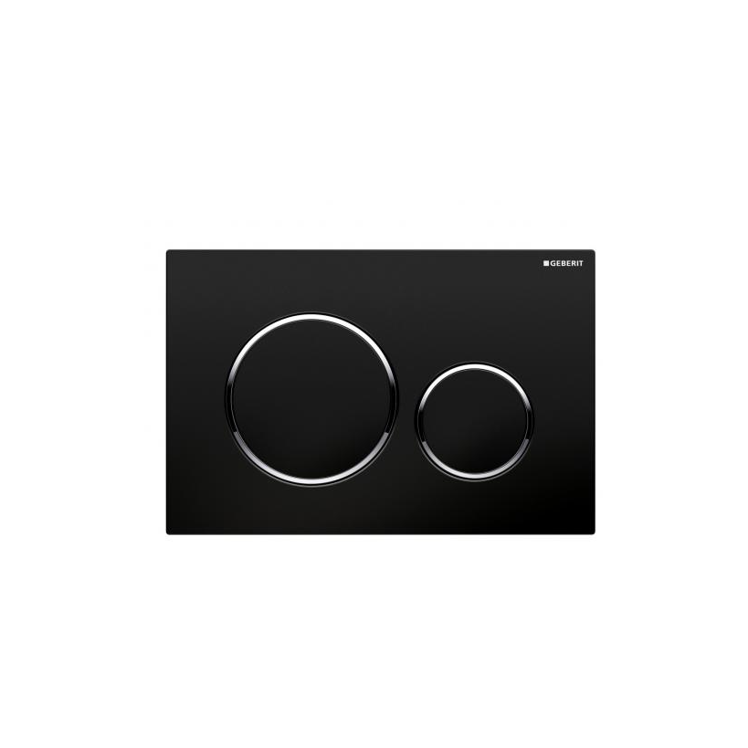 Geberit Sigma 20 2-M Betätigungsplatte schwarz/glanz/schwarz 115882KM1