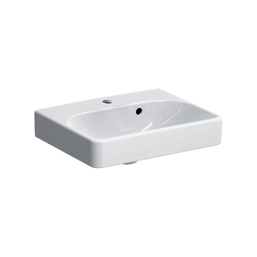 Geberit-Keramag Geberit Smyle Square Handwaschbecken m/ÜLF m/HLo, 450x360x160mm 500.222.01.1