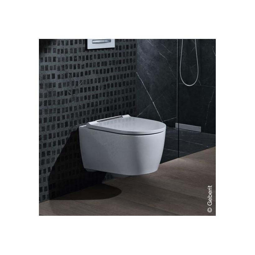 Geberit-Keramag Geberit One Set Tiefspüler mit WC-Sitz verchromt, TurboFlush 500202011