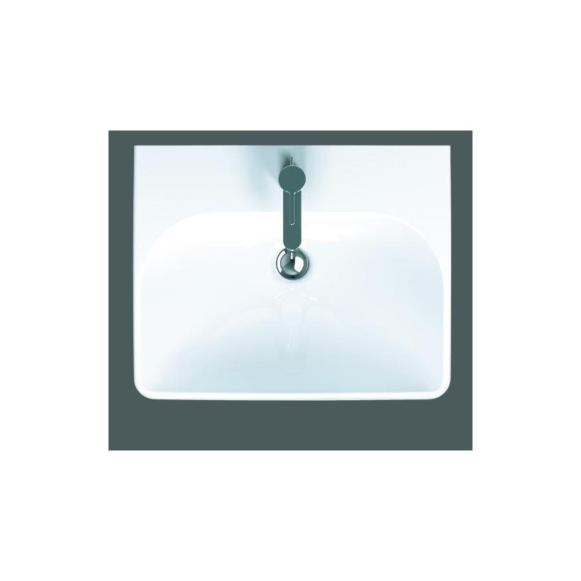 Geberit Smyle Square Handwaschbecken mit Hahnloch und Überlauf, 450x360x160mm 500222011