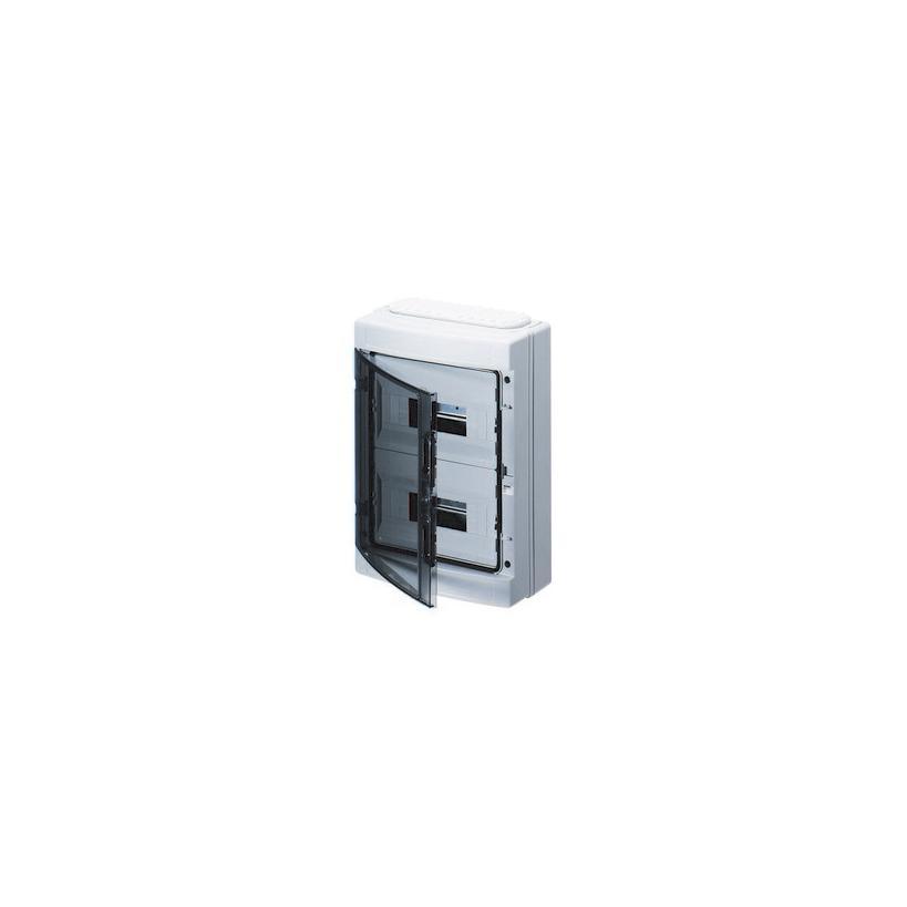 Feuchtraumverteiler Aufputz IP65 1-reihig, 12 TE, 298x260x140mm GW40123