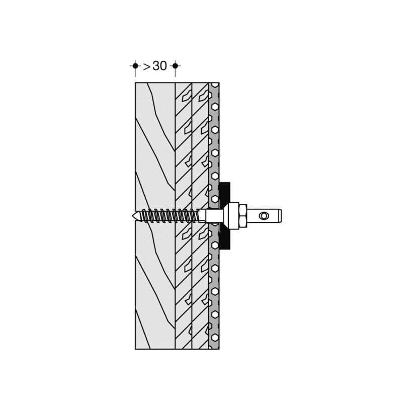 Hewi Befestigung für für Rückenstütze BM12.2.1
