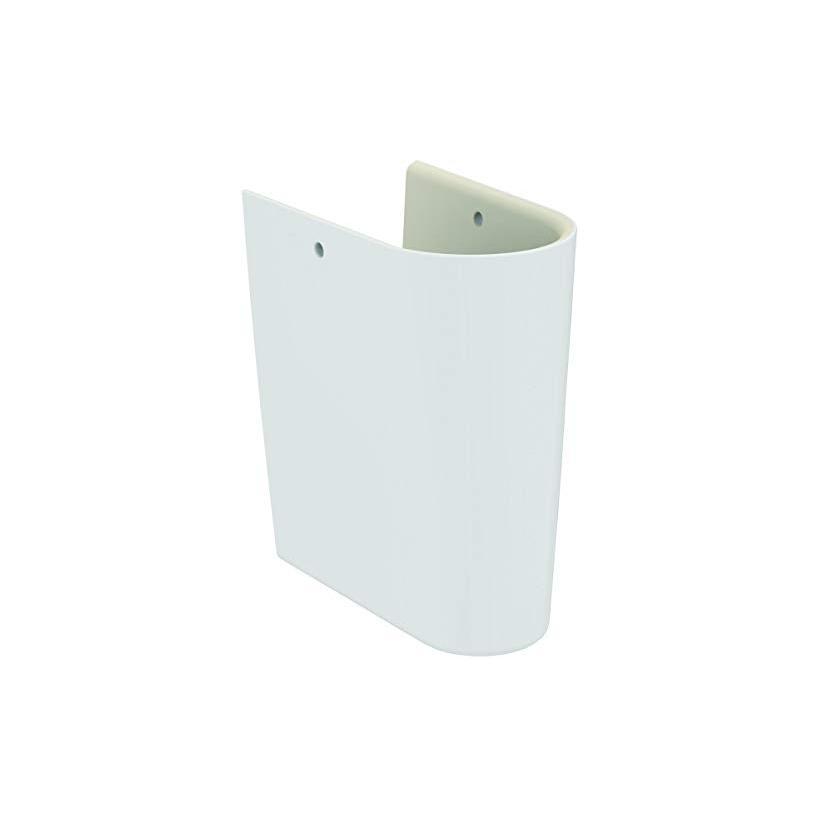 Alva aqua Alva Prisma Bela Halbsäule für Waschtische flache Ausführung, Weiß E030901