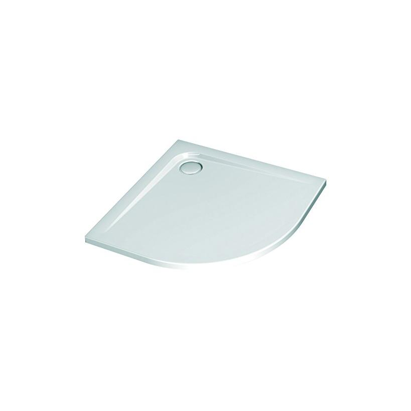 Alva aqua Alva Prisma Idea Acryl Rundbrausetasse 90x90x4,7cm, R55, Weiß ohne Füße K517601