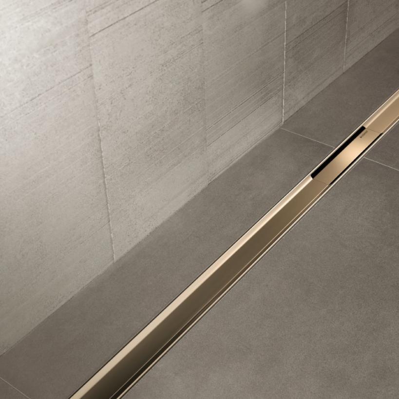 Geberit GE Duschrinne CleanLine 60,30-90cm Edelstahl geb./Schwarz 154456 154456001