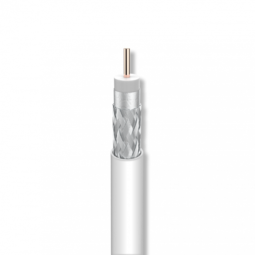 Koaxkabel A+ Staku 1,0/4,6 mm, 3-fach geschirmt, Alu 100 m Spule SK6FPLUS