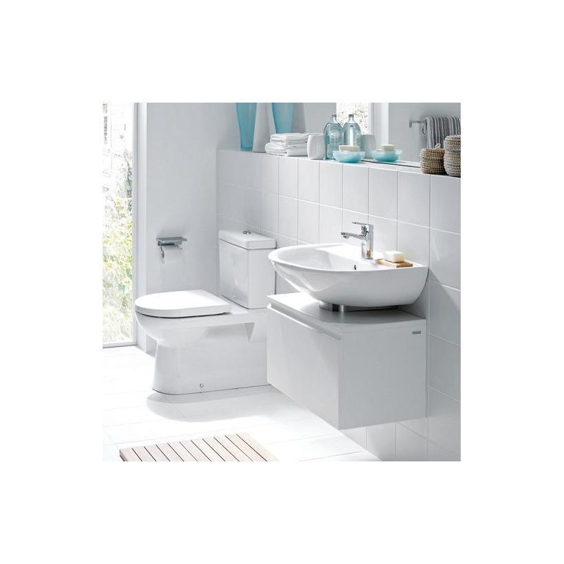 Laufen Stand-WC Komb.Flachsp.Abg. senkr.od.waagr.ohne.SPK o.WC-Sitz weiss 8249590000001