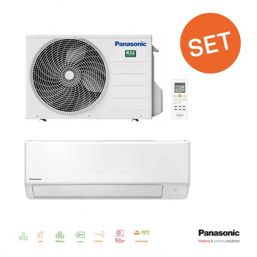 Panasonic TZ- Set 2,5kW, IE+AE Inverter A++ R32 PATZ25SET1AKT@