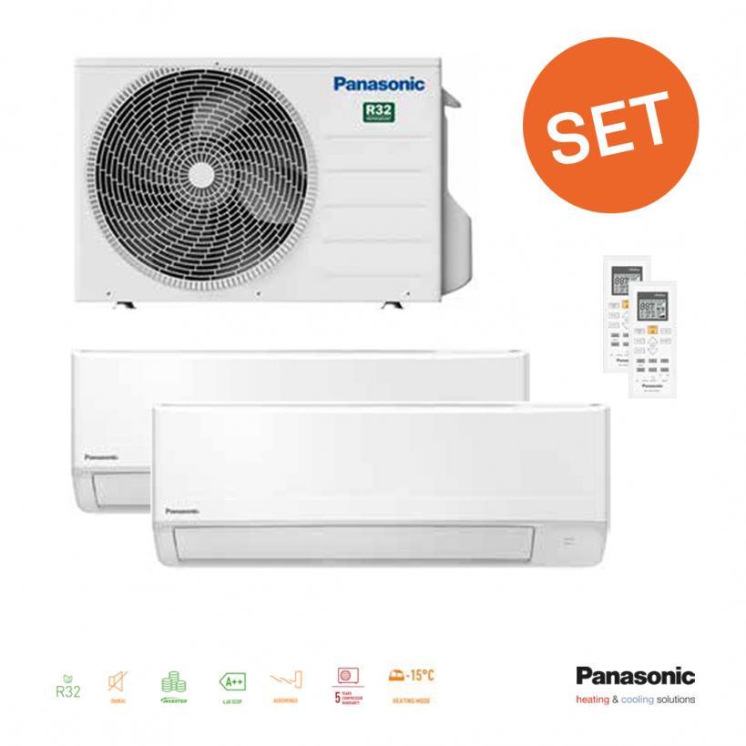 Panasonic Multi TZ 2+2kW,IE+AE Inverter  R32 WKEW-Serie PAMTZSET1.1AKT@