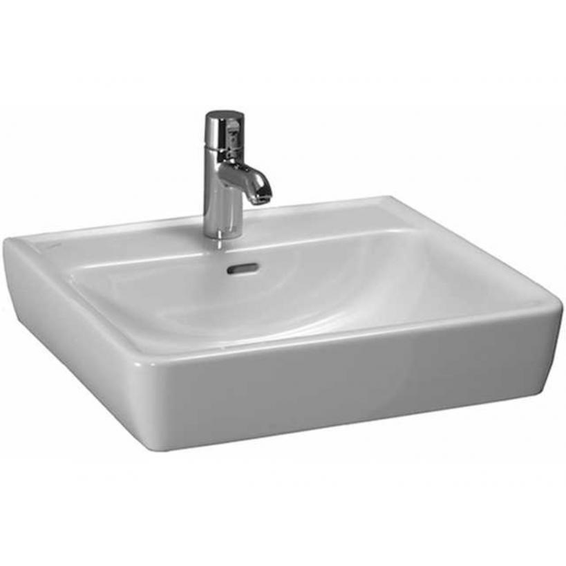 Laufen ProA Möbel-Waschtisch 55x48cm weiß , Unterseite geschliffen 8179510001041