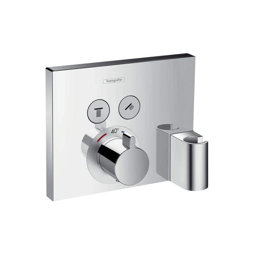 Hansgrohe HG Thermostat Unterputz ShowerSelect FS 2 Verbraucher chrom m.Fixfit u.Porter 15765000