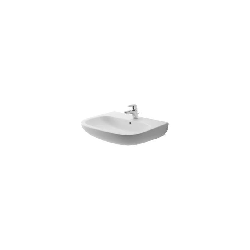 Duravit Waschtisch 600mm D-Code Weiß mit ÜL, mit HLB, 1 HL 23106000002
