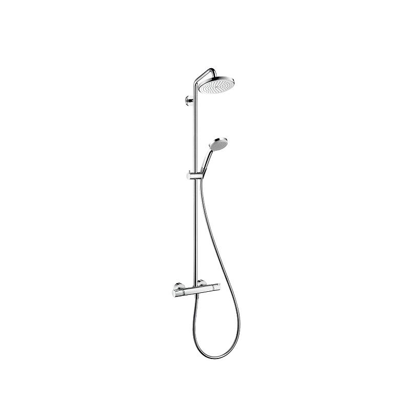 Hansgrohe HG Showerpipe Croma 220 Dusche chrom mit Thermostat 27185000