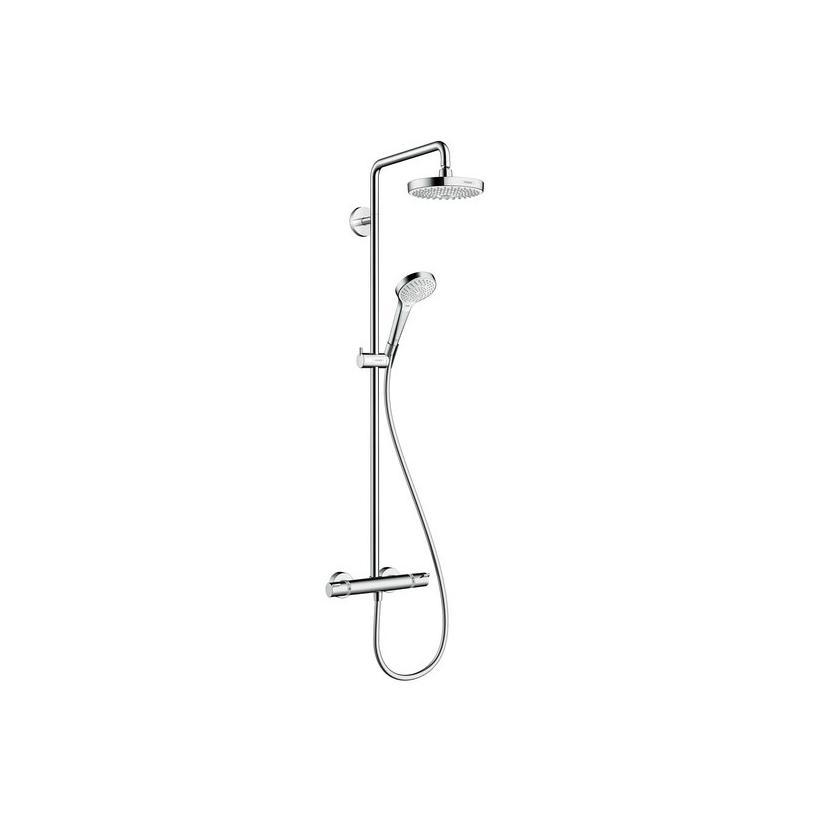 Hansgrohe HG Croma Select S 180 Showerpipe weiß/chrom 27253400