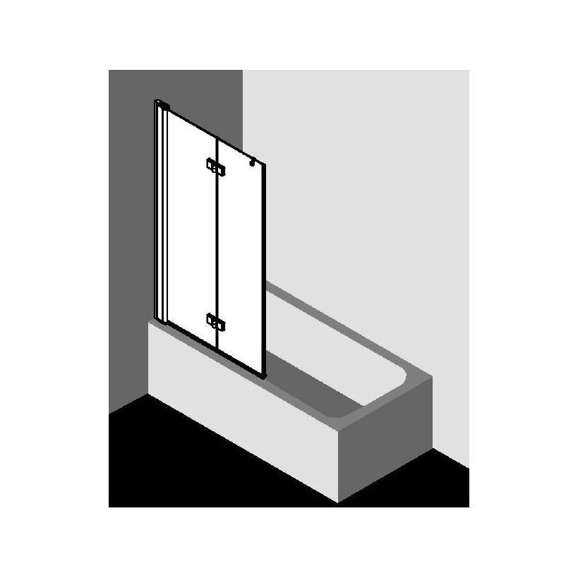 Kermi Diga Faltwand auf Badewanne rechts DI2PR10015VAK