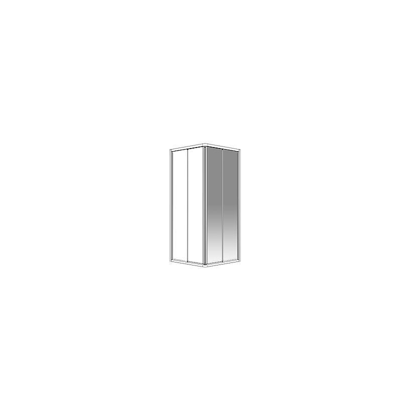 Palme Drive 1.0 Eckeinstiegsh.DXE210A 98.5x200cm silber li.H1 ESG transp. DXE210A/H1/20