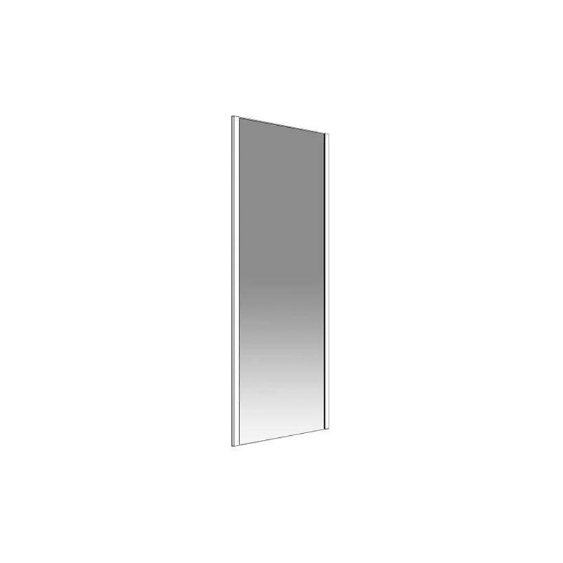 Palme Drive 1.0 Seitenteil zu Schiebetür 200 x 80cm, Glas H1, silber DXST80/H1/20