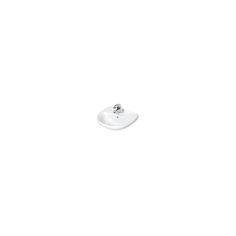 NoBrand Alva Aqua Una Handwaschbecken 45x35cm, mit Hahnloch, Weiß 8.1427.3.000.104.5