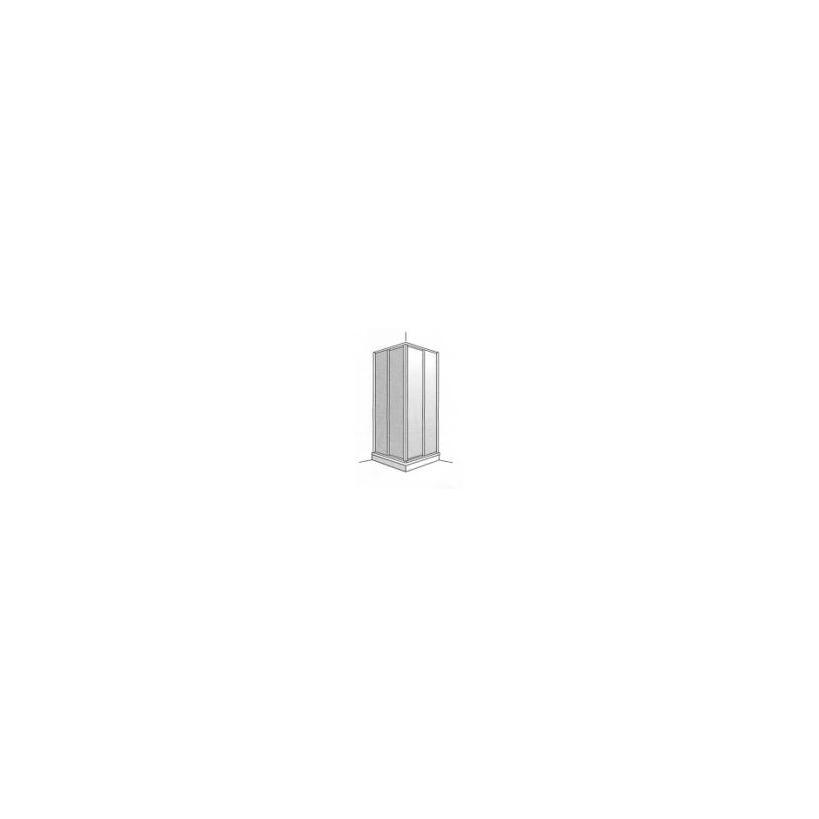 Artweger Eckeinstieg Baseline 2-tlg. 100x100x185cm weissGl.Diamond GE6DWSDD