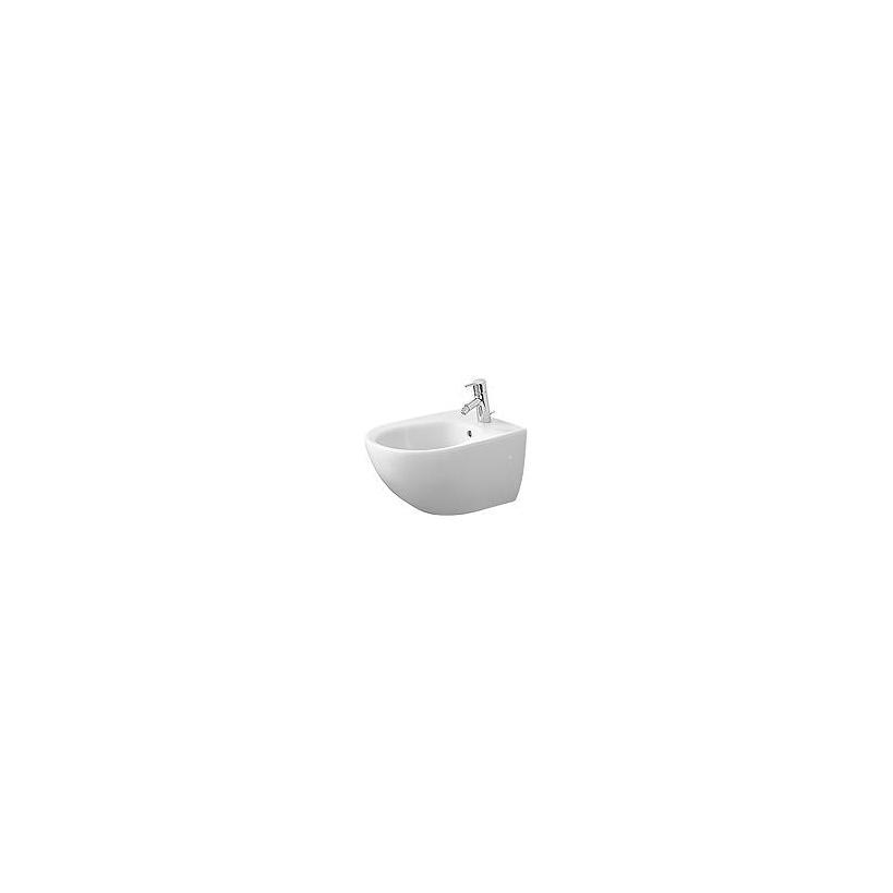 Duravit Wand-Bidet 570mm Architec Weiß mit ÜL, mit HLB, 1 HL, WonderGliss 25311500001